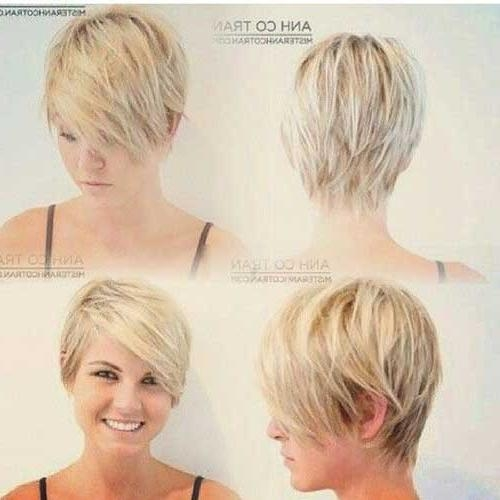 Short Hairstyles 2016 In Preferred Pixie Haircuts For Round Face Shape (View 4 of 20)