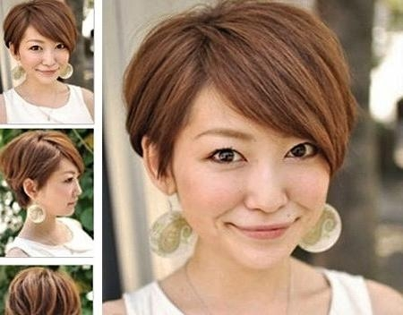 Short Hairstyles 2016 With Popular Long Pixie Haircuts For Round Faces (View 17 of 20)