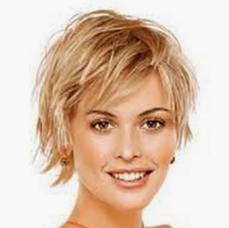 Short Hairstyles For Fine Hair Over 50 Round Face – Hairstyle For Intended For Popular Short Shaggy Hairstyles For Round Faces (View 3 of 15)