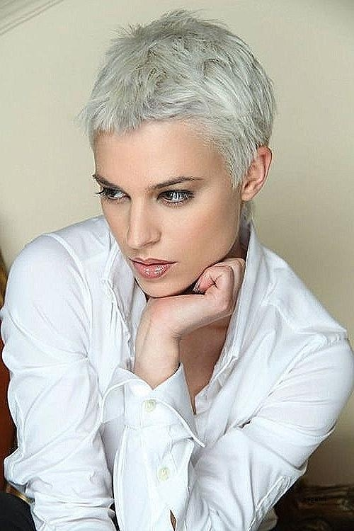 Short Hairstyles For Grey Hair Gallery Awesome 30 Very Short Pixie With Regard To Favorite Grey Pixie Haircuts (View 17 of 20)