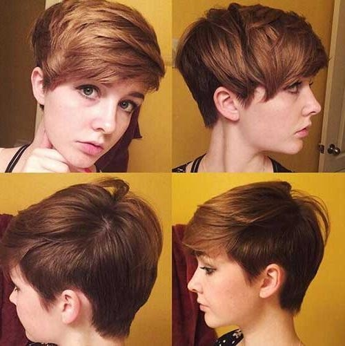 Short Hairstyles & Haircuts 2017 Intended For Famous Short Pixie Haircuts With Long Bangs (View 18 of 20)