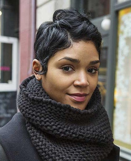 Short Hairstyles & Haircuts 2017 Intended For Favorite Black Girl Pixie Haircuts (View 17 of 20)