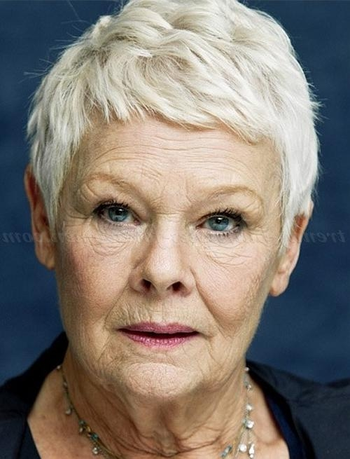 Short Hairstyles Over 50 – Judi Dench Short Pixie Haircut (View 18 of 20)