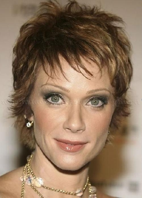 Short Hairstyles Over 50 – Pixie Hairstyle For Women Over 50 In Trendy Pixie Haircuts For Women Over (View 18 of 20)