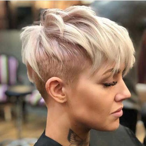 Short Hairstyles Regarding Current Pixie Haircuts With Shaved Sides (View 17 of 20)