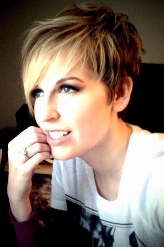 Short In Favorite Short Bangs Pixie Haircuts (View 12 of 20)