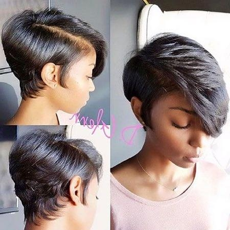 Short Inside Most Current Pixie Haircuts With Weave (View 17 of 20)