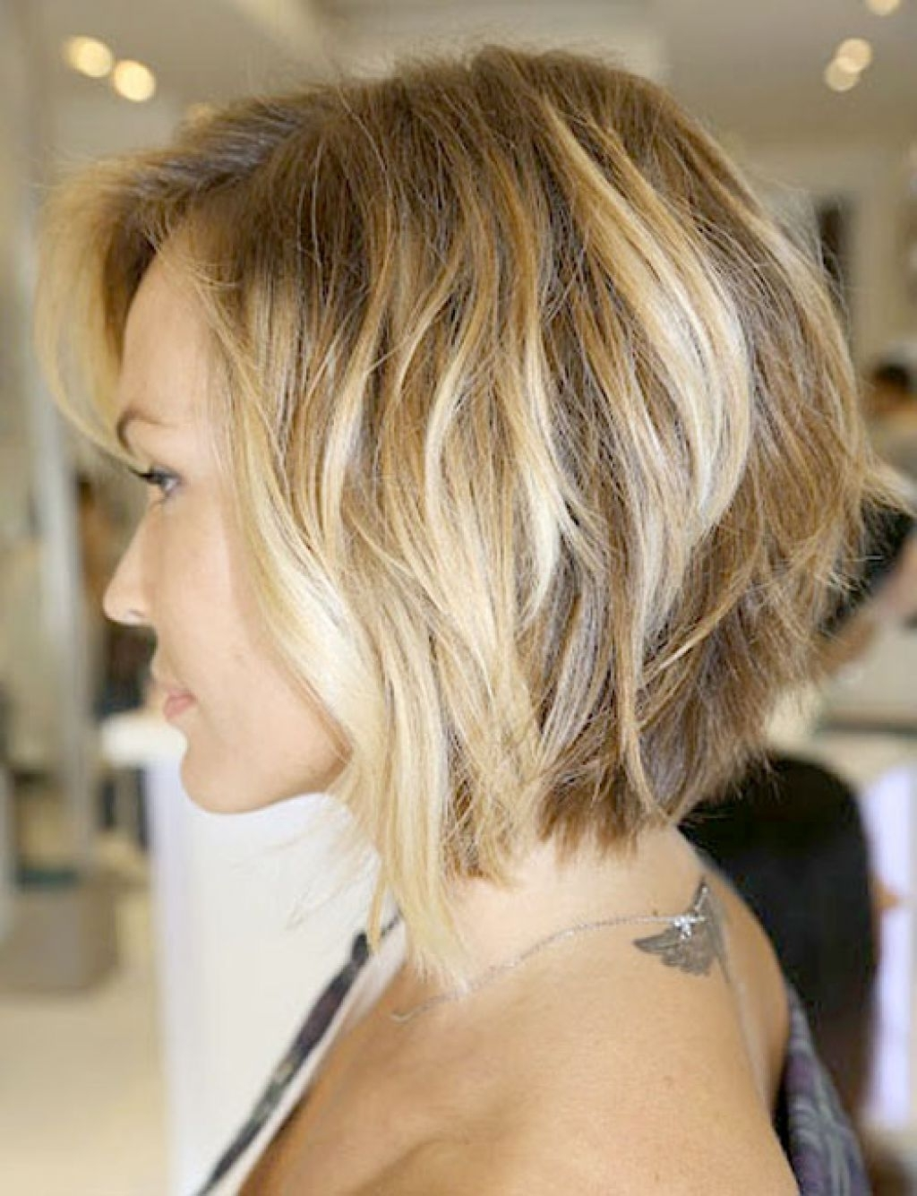 Short Inverted Bob Hairstyles For Wavy Hair – Popular Long Within Fashionable Shaggy Bob Cut Hairstyles (View 13 of 15)