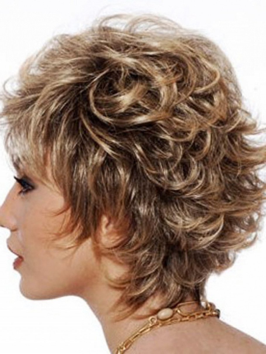 Short Layered Bob Haircuts With Bangs For Curly Hair Short Layered Pertaining To Well Liked Short Curly Shaggy Hairstyles (View 13 of 15)