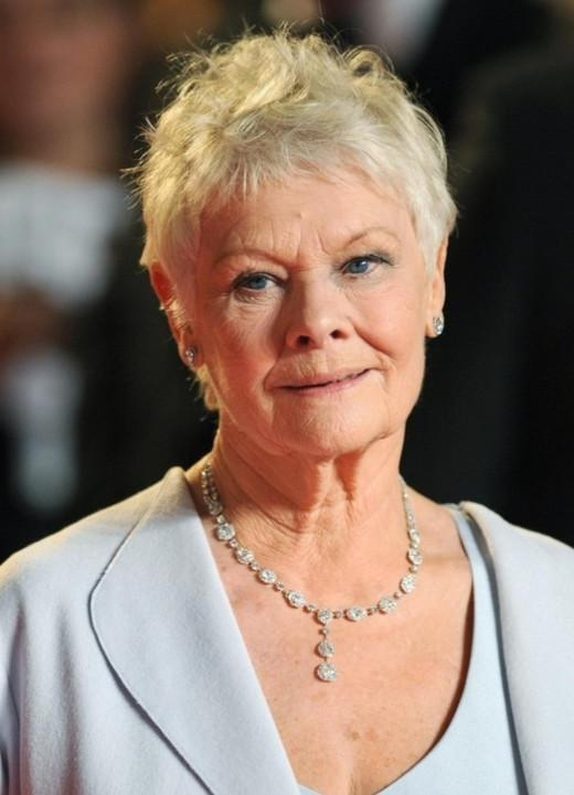 Short Pixie Cut For Mature Women Over 70 – Judi Dench Hairstyles Throughout Current Judi Dench Pixie Haircuts (View 17 of 20)