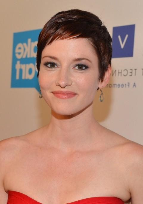 Short Pixie Haircut For Fine Hair – Chyler Leigh Short Hairstyles For Most Popular Short Pixie Haircuts For Fine Hair (View 14 of 20)