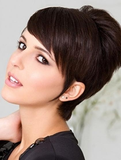 Short Pixie Haircut With Side Swept Bangs – Popular Haircuts Throughout Well Known Short Pixie Haircuts With Bangs (Gallery 4 of 20)