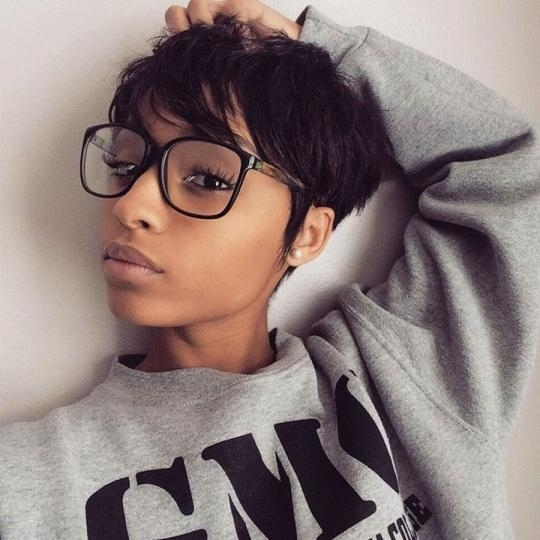 Short Pixie Haircuts For Black Women – Short Hairstyles Cuts With Most Recent Short Pixie Haircuts For Black Women (View 17 of 20)