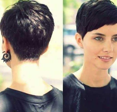 Short Pixie Haircuts For Fine Thin Hair 2017 Pertaining To Most Popular Pixie Haircuts (View 17 of 20)