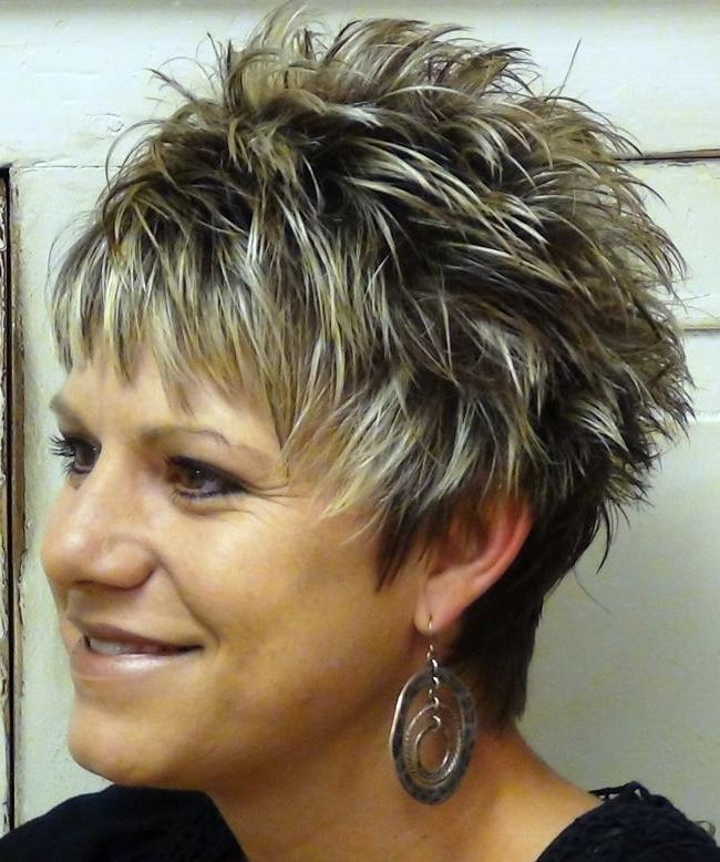 Short Spiky Inside 2017 Short Pixie Haircuts For Women Over (View 14 of 20)