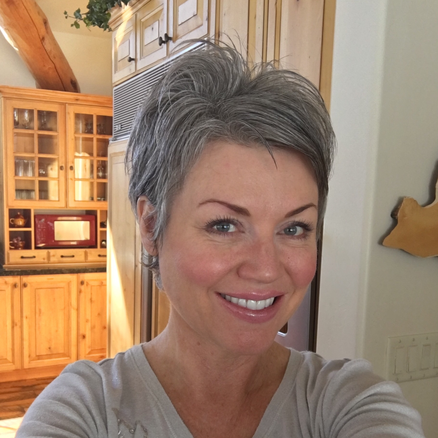 Shortgreyhair #pixie #lettingitgrow (View 4 of 15)