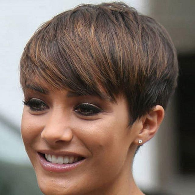 Simple Easy Daily Haircut Highlighted Pixie Cut For Medium To In Popular Pixie Haircuts With Highlights (View 16 of 20)