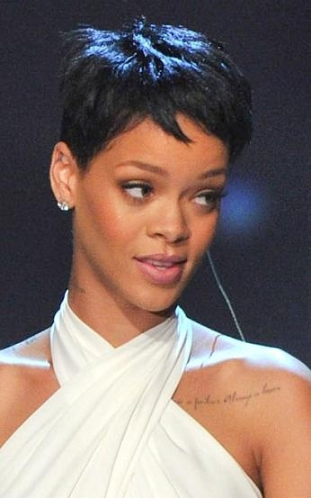 Sophisticated Allure With Regard To Widely Used Rihanna Pixie Haircuts (View 18 of 20)