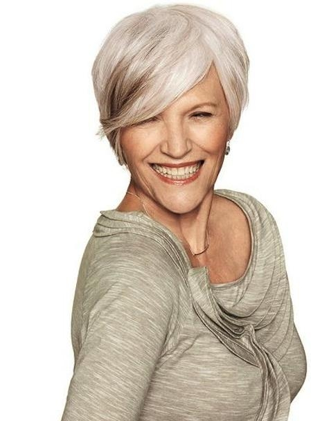 Stylish Pixie Short Cut For Older Women (View 16 of 20)