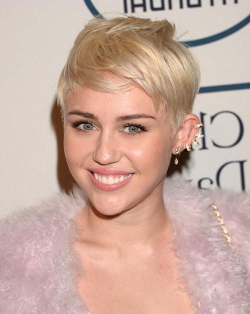 Subtle Blonde Pixie Hairstyles – Page 2 – Haircuts And Hairstyles With Preferred Miley Cyrus Pixie Haircuts (View 17 of 20)