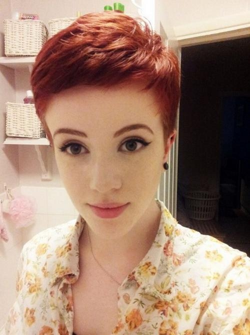 Top Pixie Haircuts 2017 2018 – Goostyles Inside Latest Short Red Pixie Haircuts (View 10 of 20)