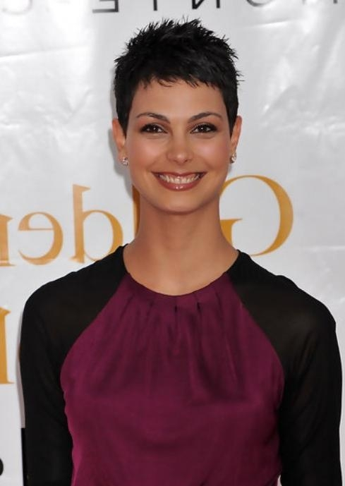 Tousled Short Black Pixie Haircut For Women – Morena Baccarin For Recent Tousled Pixie Haircuts (View 7 of 20)