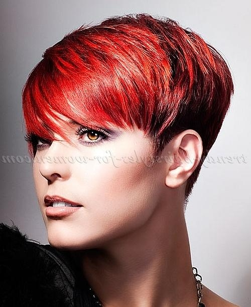 Trendy Hairstyles For Women Inside Trendy Short Red Pixie Haircuts (View 8 of 20)