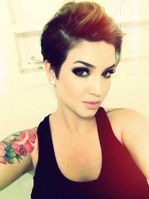 Trendy Hot Pixie Haircuts Intended For 74 Stunning And Edgy Pixie Cut Hairstyles For 2018 – Bun & Braids (View 17 of 20)