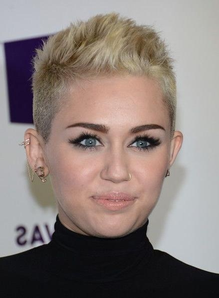 Trendy Miley Cyrus Pixie Haircuts Pertaining To The 25+ Best Miley Cyrus Piercings Ideas On Pinterest (View 4 of 20)
