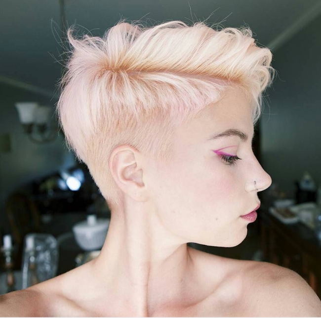 Trendy Pink Pixie Haircuts With Regard To Luscious Pixie Haircuts For 2017 – Page 2 – Haircuts And (View 7 of 20)