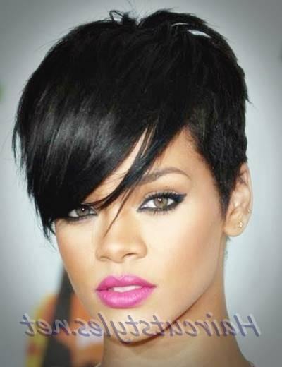 Trendy Rihanna Pixie Haircuts Intended For Rihanna Hairstyles Trendy Pixie Haircut (View 19 of 20)