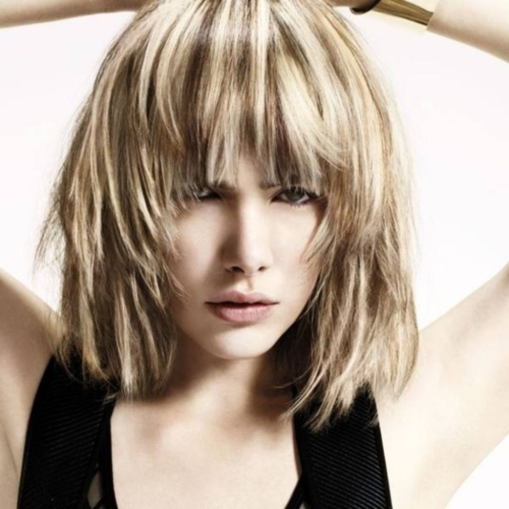 Trendy Shaggy Blonde Hairstyles With Shaggy Bob Hairstyle Mid Length Bob Hairstyles Ideas Women (View 5 of 15)