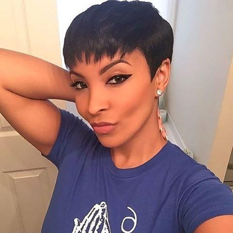 Trendy Short Pixie Haircuts For Black Hair With Regard To 8 Best Short Black Hairstyles Images On Pinterest (View 17 of 20)