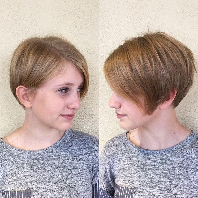 Trendy Short Pixie Haircuts For Round Faces Throughout 20 Easy Short Pixie Haircuts For Round Faces (View 20 of 20)
