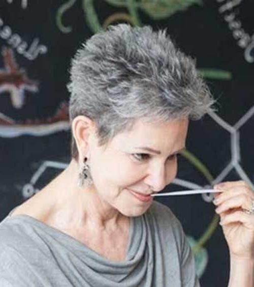 Twenty Short Gray Haircuts (View 20 of 20)