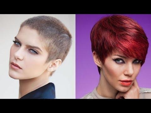 Ultra Short And Short Pixie Hairstyles And Haircuts For Women 2018 Within Preferred Ultra Short Pixie Haircuts (Gallery 4 of 20)