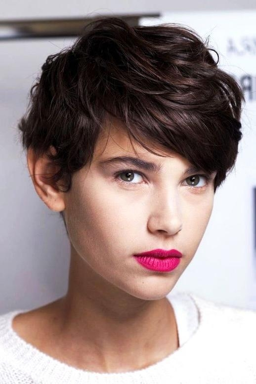 Wavy Pixie Haircut, Short Regarding Famous Pixie Haircuts For Wavy Hair (View 18 of 20)
