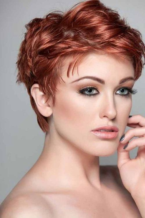 Well Known Pixie Haircuts For Thick Wavy Hair Throughout Womens Short Hairstyles For Thick Wavy Hair Photos – New (View 20 of 20)