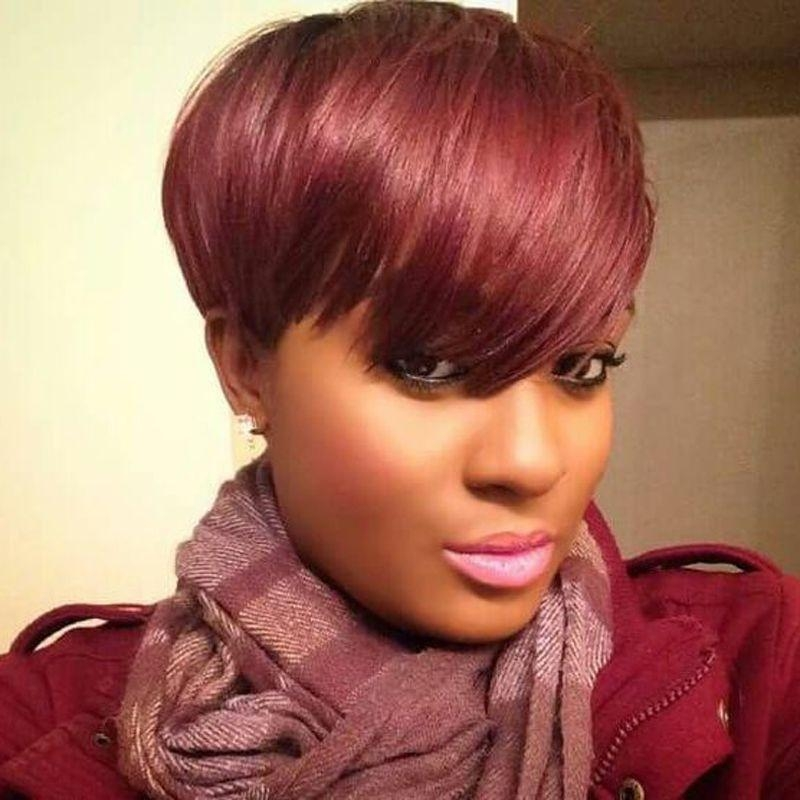 Well Known Pixie Haircuts With Weave Inside Free Top Closure Stock Shower Cap 28 Pieces Human Hair Weave (View 20 of 20)