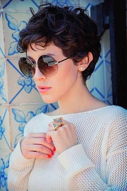 Well Known Short Pixie Haircuts For Wavy Hair Intended For Best 25+ Pixie Haircut For Thick Hair Wavy Ideas On Pinterest (View 18 of 20)