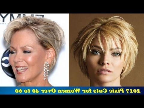 Well Liked Pixie Haircuts For Women Over 40 With Regard To 2017 Pixie Haircuts For Women Over 40 To 60 – Youtube (View 8 of 20)