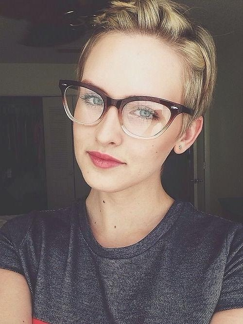 Why Are Women Chopping Off Their Hair? Would You? – The Fashion In Fashionable Pixie Haircuts With Glasses (View 10 of 20)