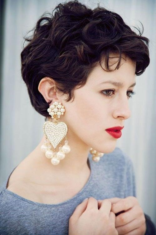 Widely Used Curly Short Pixie Haircuts Inside Best 25+ Curly Pixie Cuts Ideas On Pinterest (View 18 of 20)