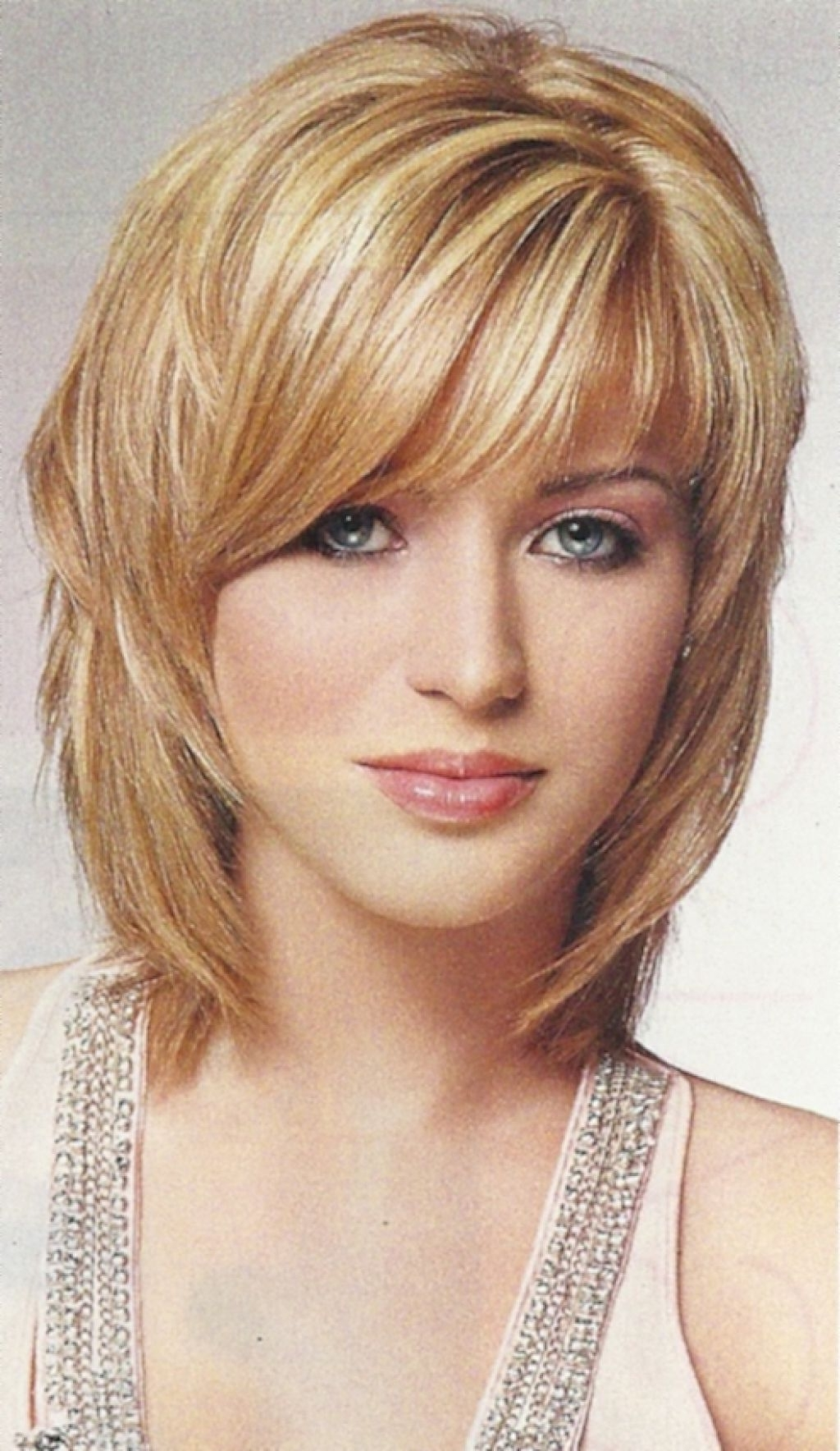 Widely Used Long Shaggy Hairstyles For Round Faces Intended For Medium Haircut Ideas – Hairstyle For Women & Man (View 7 of 15)