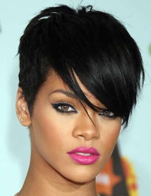 Widely Used Rihanna Pixie Haircuts With Regard To Rihanna Hairstyles: Trendy Pixie Haircut – Pretty Designs (View 20 of 20)