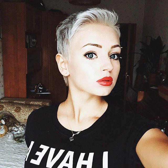 Photo Gallery Of Super Short Pixie Haircuts For Round Faces Viewing