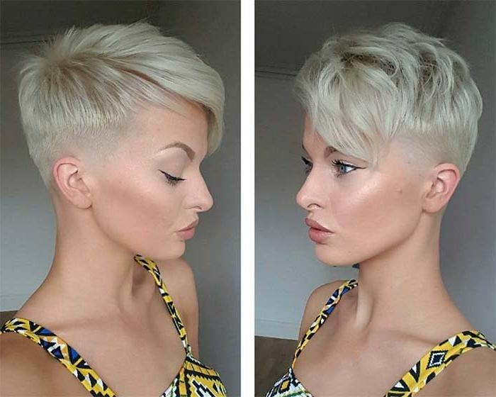 Widely Used Undercut Pixie Haircuts Throughout 100 Short Hairstyles For Women: Pixie, Bob, Undercut Hair (View 20 of 20)