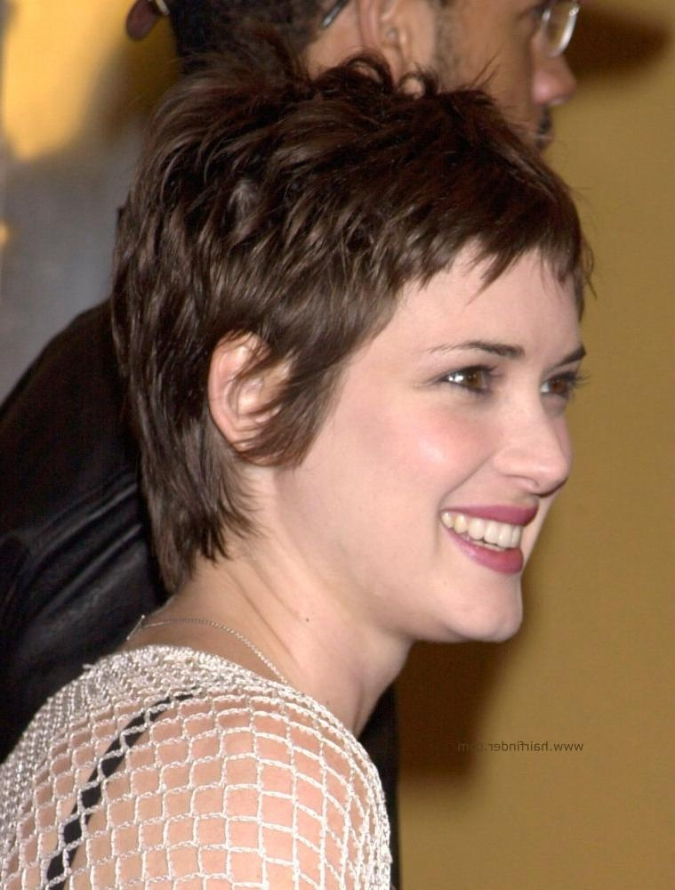 Winona Ryder – Sweet Pixie Cut For A Heart Shaped Face Throughout Most Recent Tapered Pixie Haircuts (View 14 of 20)