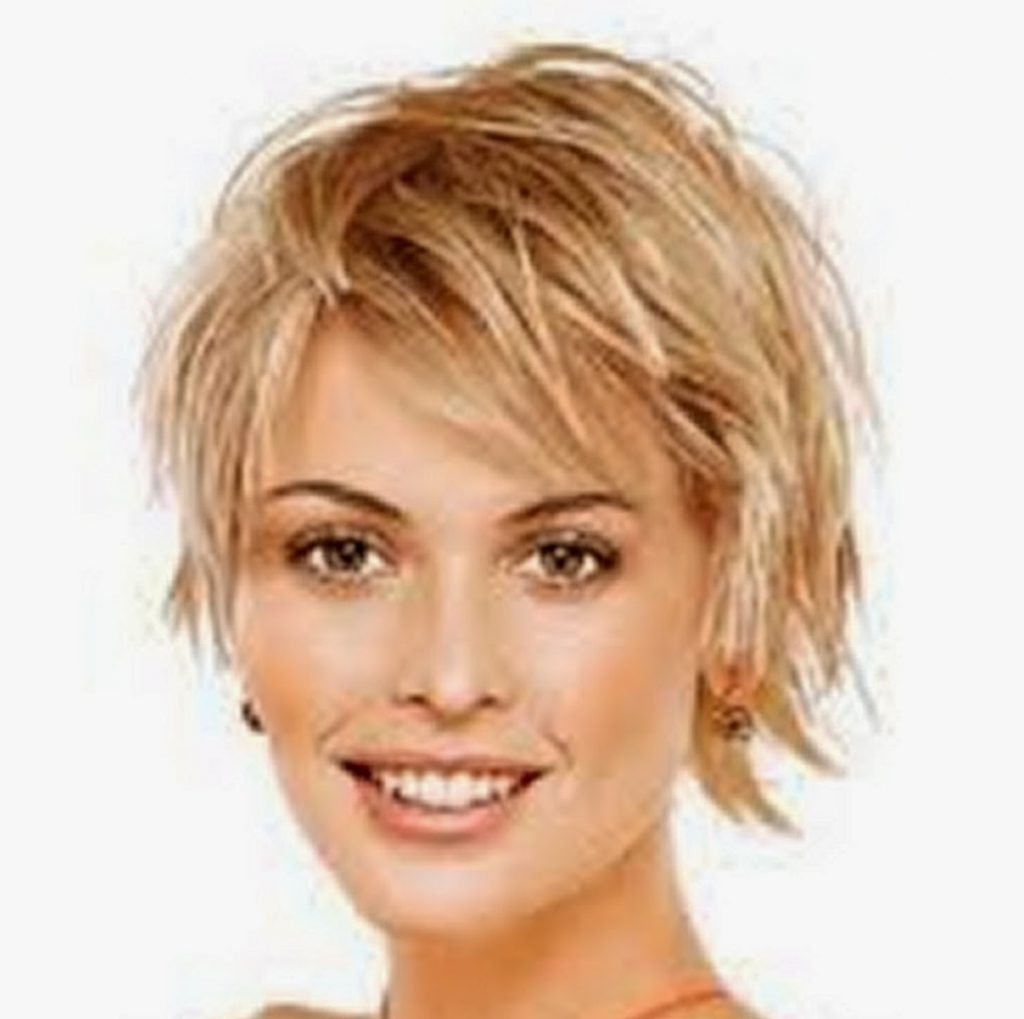 Photo Gallery Of Short Shaggy Hairstyles For Round Faces Viewing 5