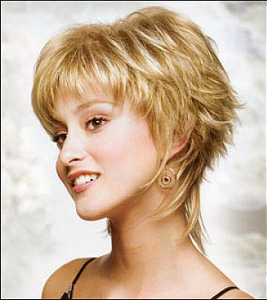 Women Hairstyle : Short Shaggy Haircuts Images About Hair On Inside Newest Shaggy Hairstyles For Thick Hair (View 15 of 15)